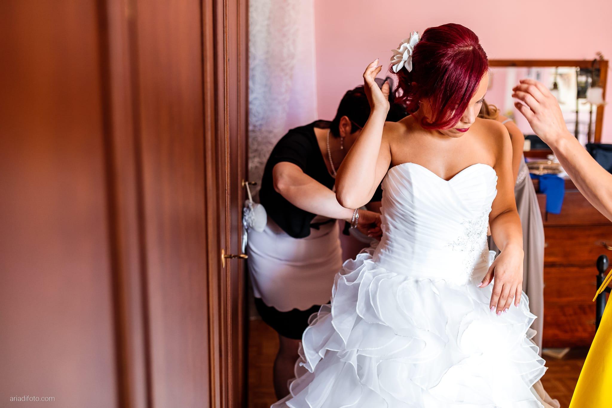 Alice Paolo Matrimonio San Giorgio Villa Iachia Ruda Udine preparativi sposa abito