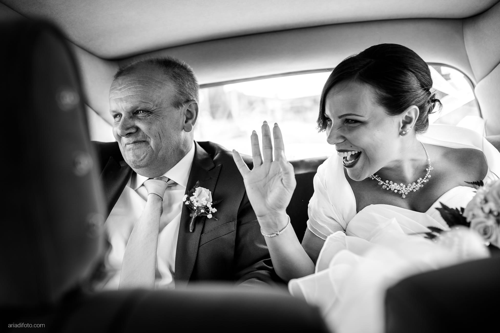 Alice Paolo Matrimonio San Giorgio Villa Iachia Ruda Udine preparativi sposa auto papà