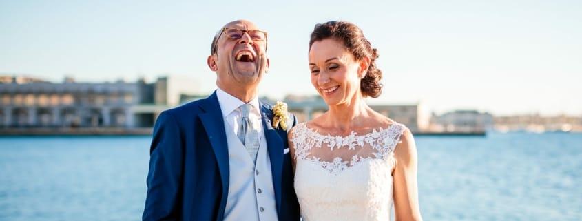 Anna Paolo Matrimonio Santa Maria Maggiore Hotel Riviera Trieste ritratti sposi Molo Audace Piazza Unità