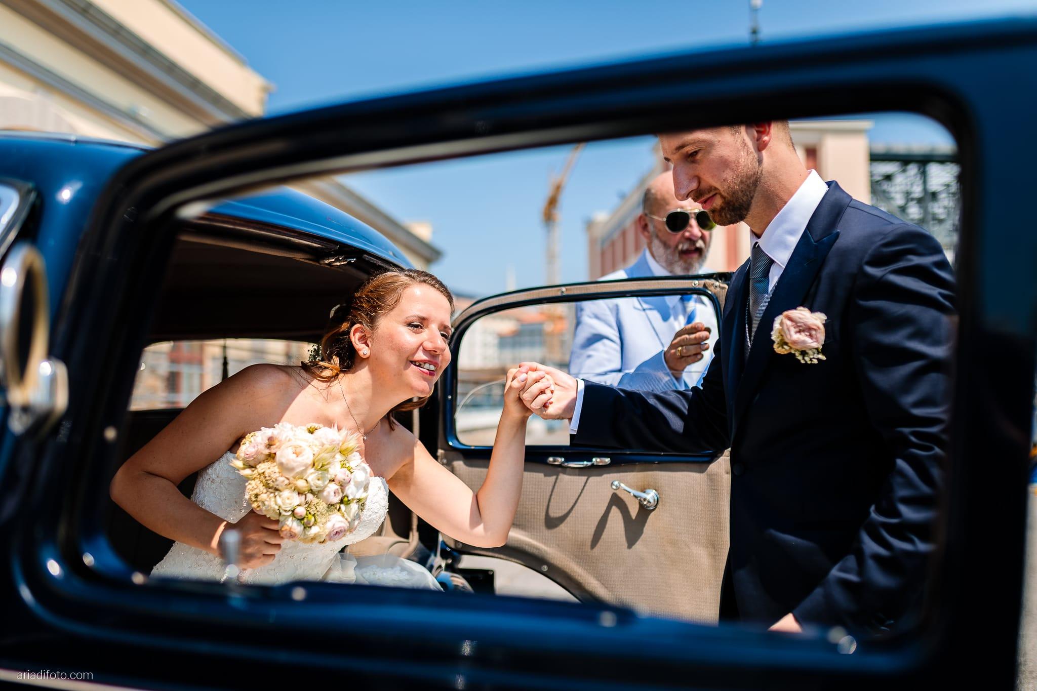 Ester Francesco Matrimonio Cattedrale Castello San Giusto Molo IV Trieste ricevimento auto