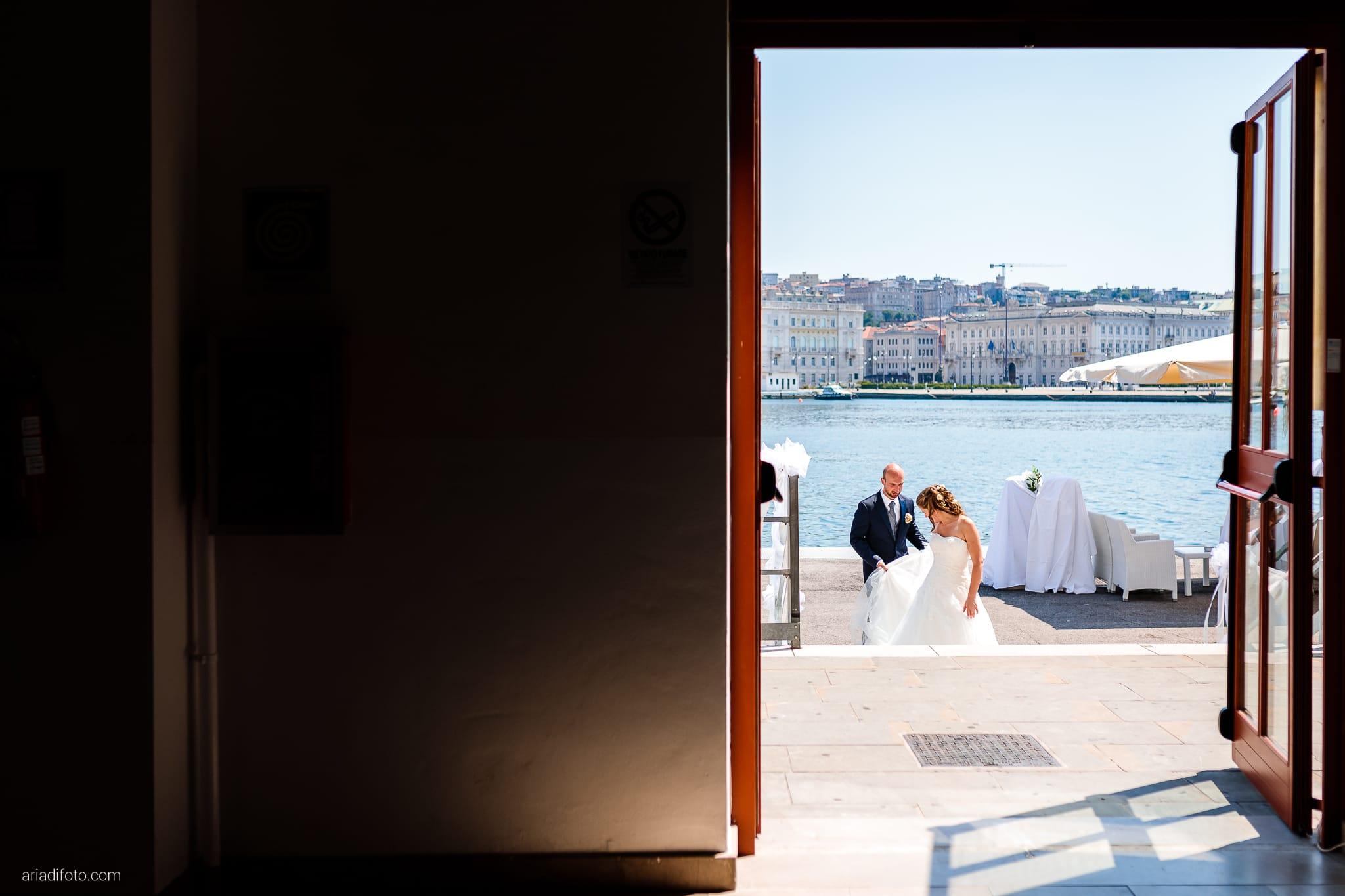 Ester Francesco Matrimonio Cattedrale Castello San Giusto Molo IV Trieste ricevimento
