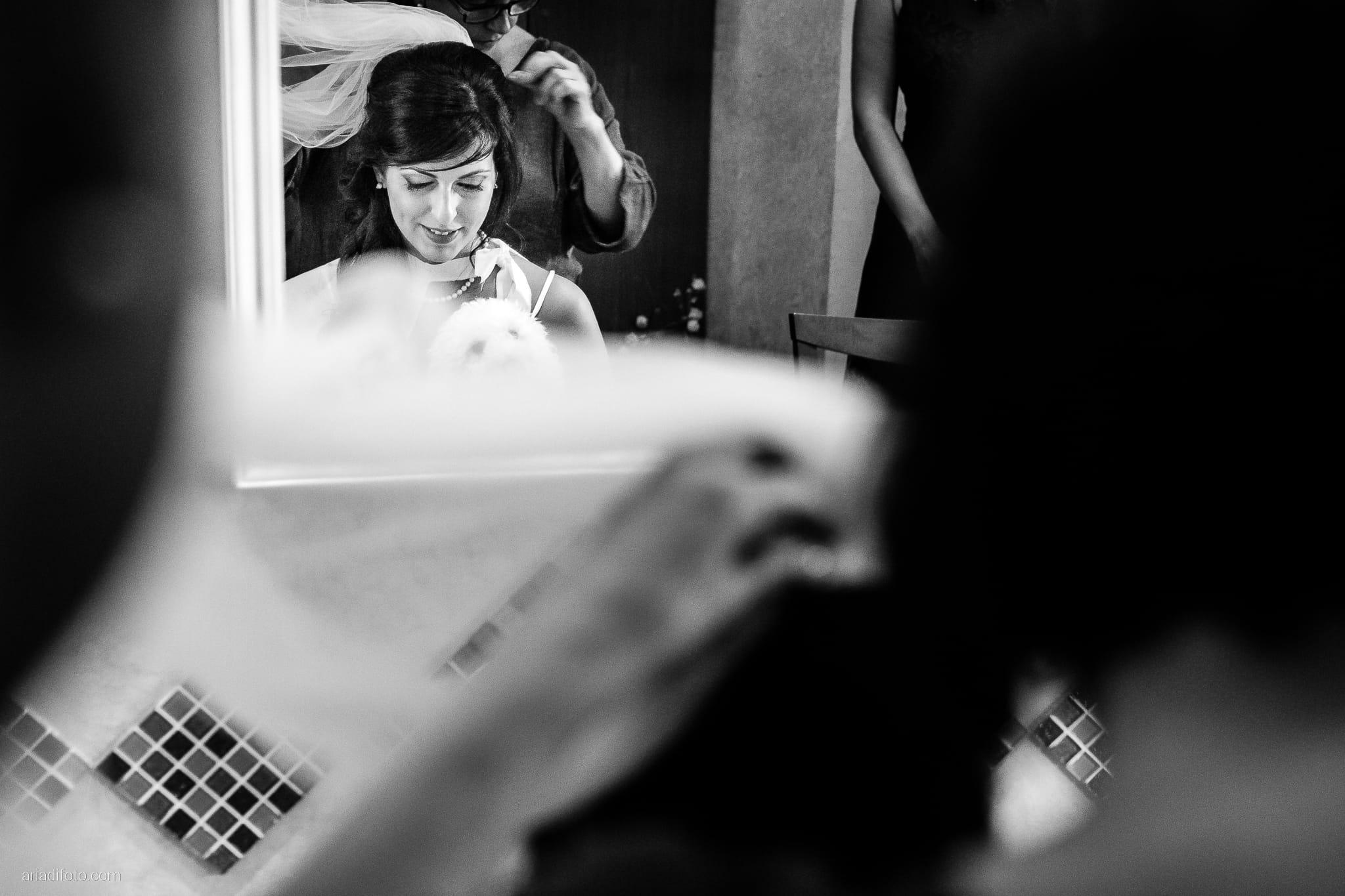 Rosylenia Luca Matrimonio Duino Ristorante Napoleone Castions Udine preparativi sposa specchio riflesso velo
