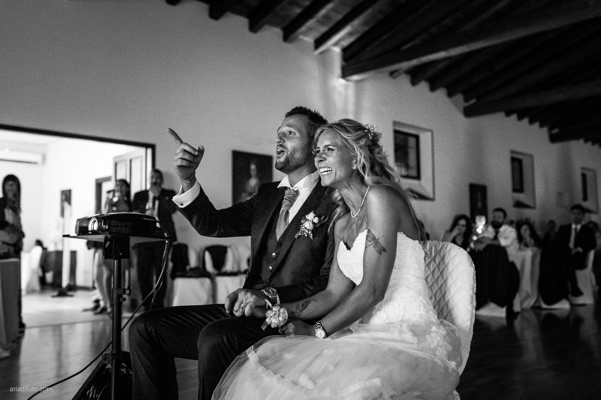 Nicoletta Pierfrancesco Matrimonio Gorizia Villa Attems Lucinico ricevimento proiezione Live!
