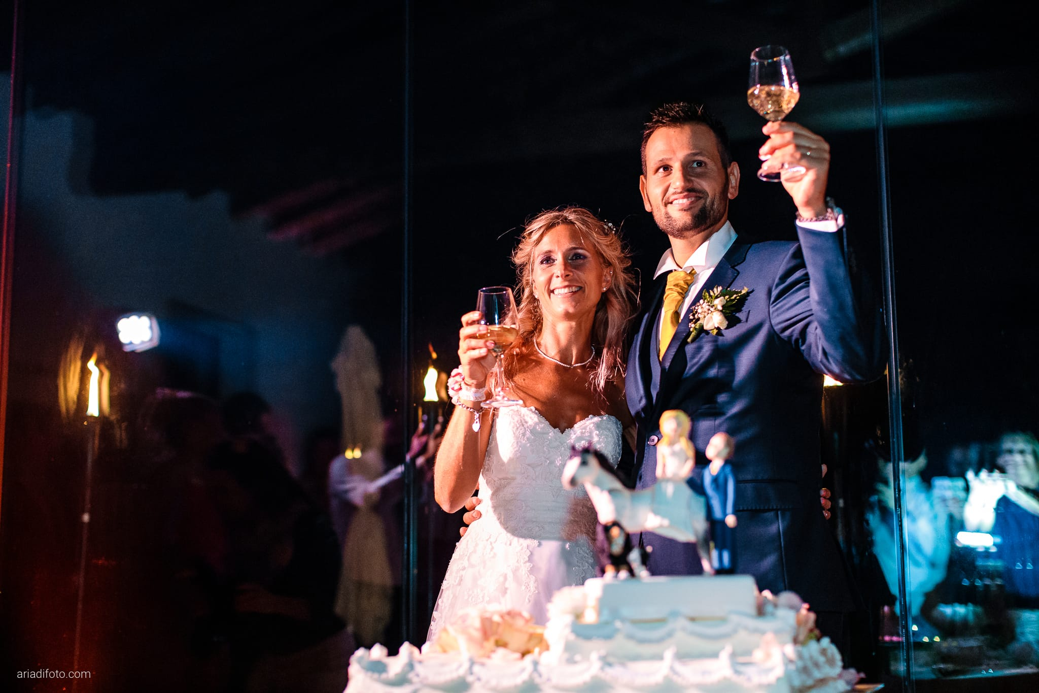Nicoletta Pierfrancesco Matrimonio Gorizia Villa Attems Lucinico ricevimento taglio torta brindisi