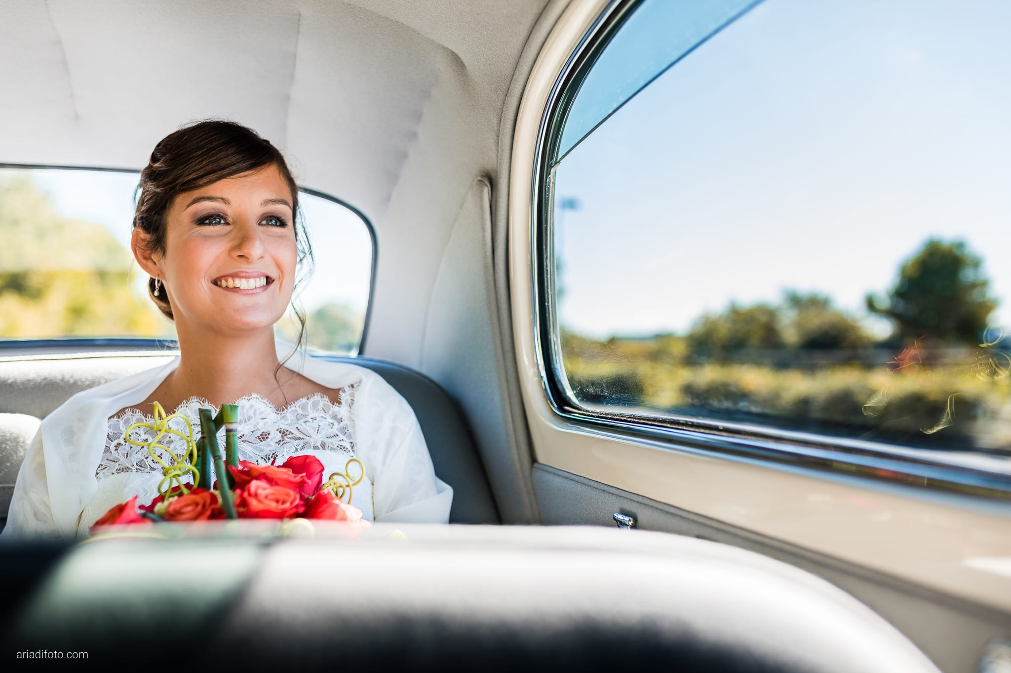 Teresa Andrea Matrimonio Grado Basilica Sant Eufemia Villa Iachia Ruda Udine preparativi sposa auto