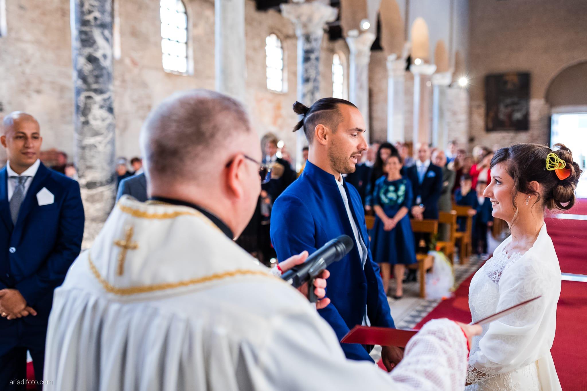 Teresa Andrea Matrimonio Grado Basilica Sant Eufemia Villa Iachia Ruda Udine cerimonia promesse scambio degli anelli