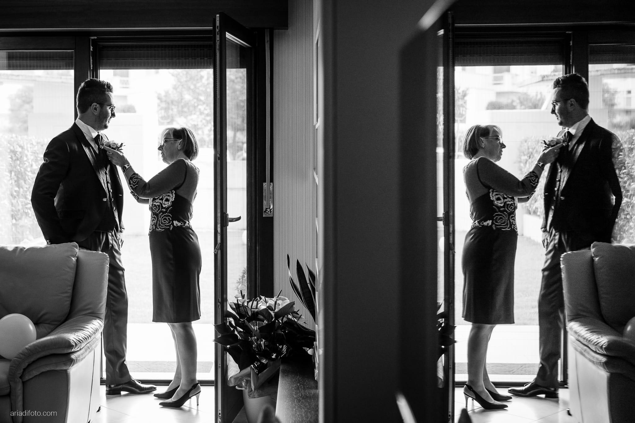 Anna Matteo Matrimonio Parco di Buttrio Udine preparativi sposo vestizione riflesso specchio