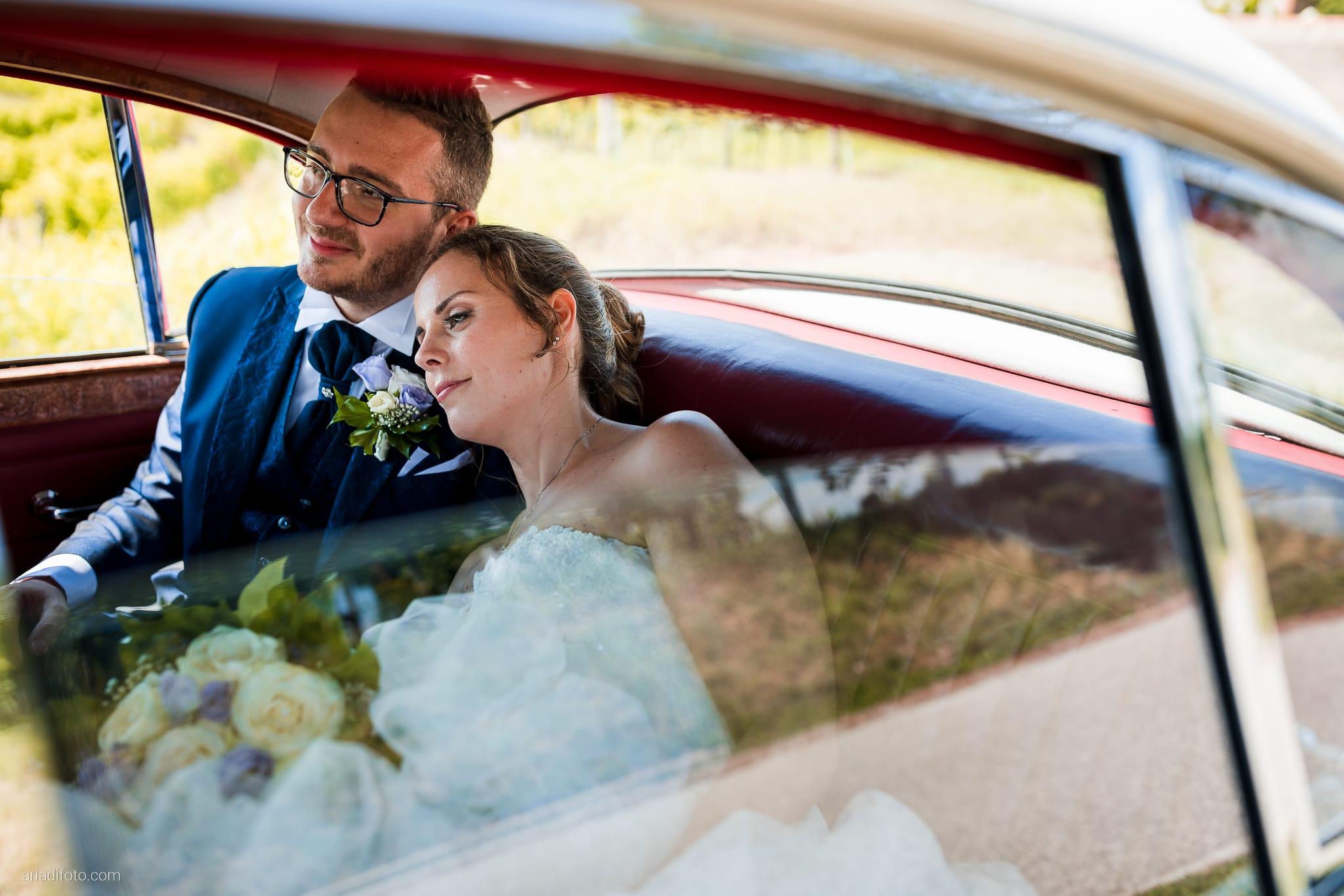 Anna Matteo Matrimonio Parco di Buttrio Udine ritratti sposi auto