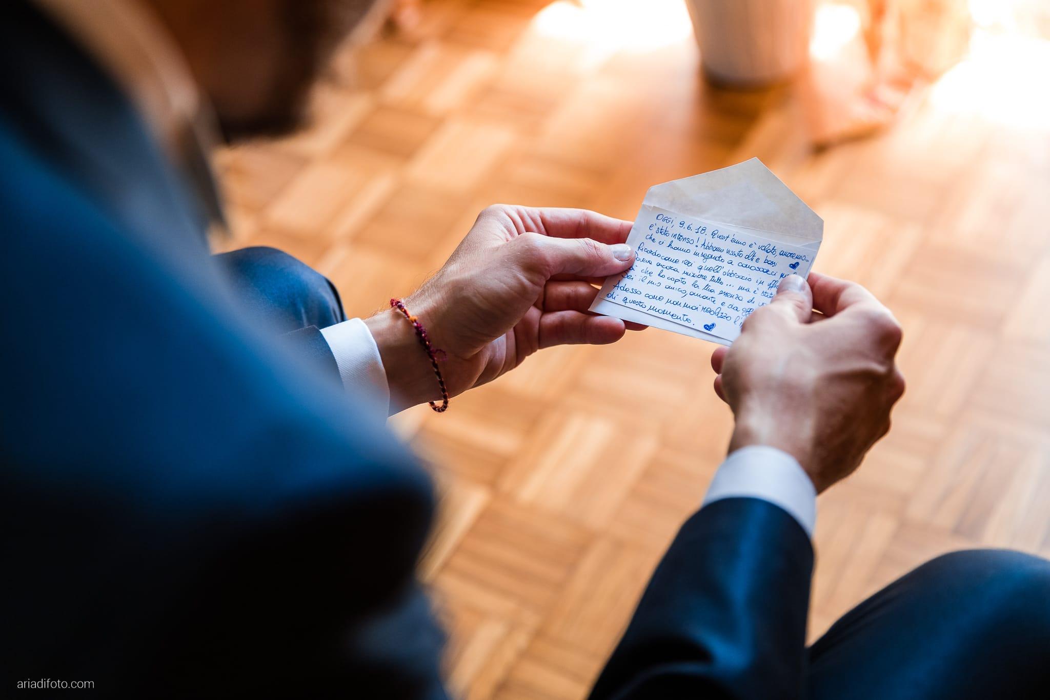 Giorgia Davide Matrimonio Muggia Trieste Baronesse Tacco San Floriano Del Collio Gorizia preparazione sposo momenti lettera