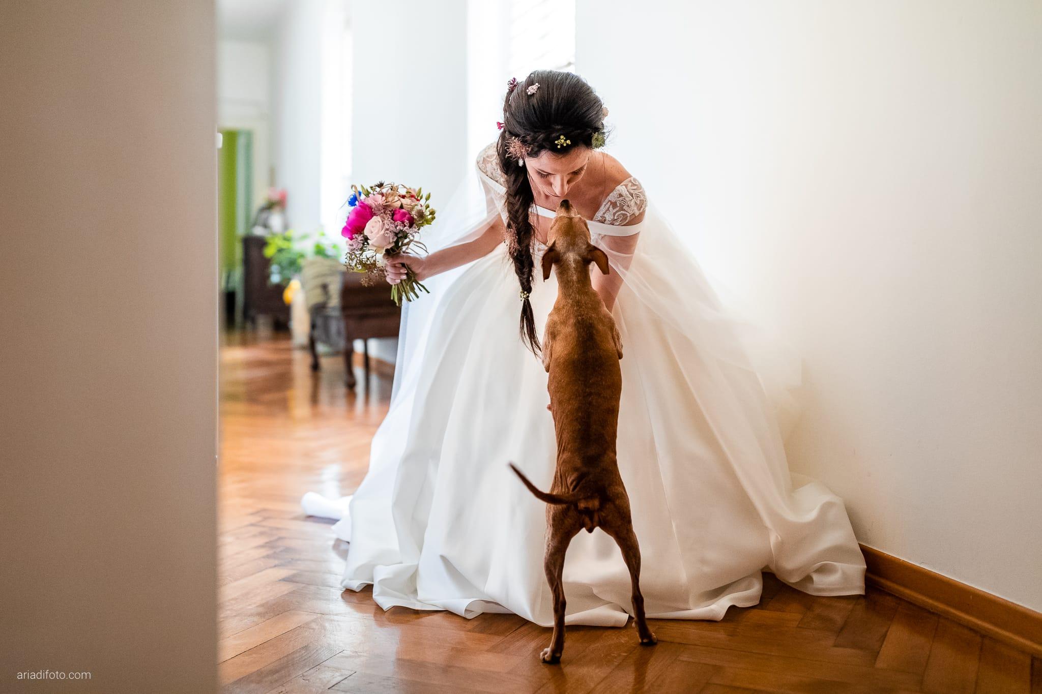 Giorgia Davide Matrimonio Muggia Trieste Baronesse Tacco San Floriano Del Collio Gorizia preparazioni sposa momenti cane