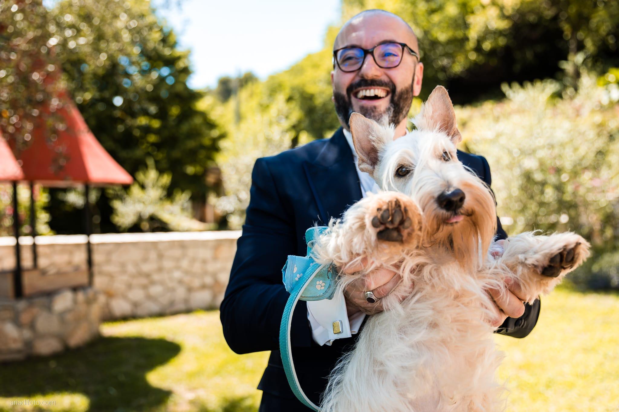 Lavinia Daniele Matrimonio Medea Gorizia Villa Elodia Trivignano Udinese Udine preparativi sposo cane scottish terrier