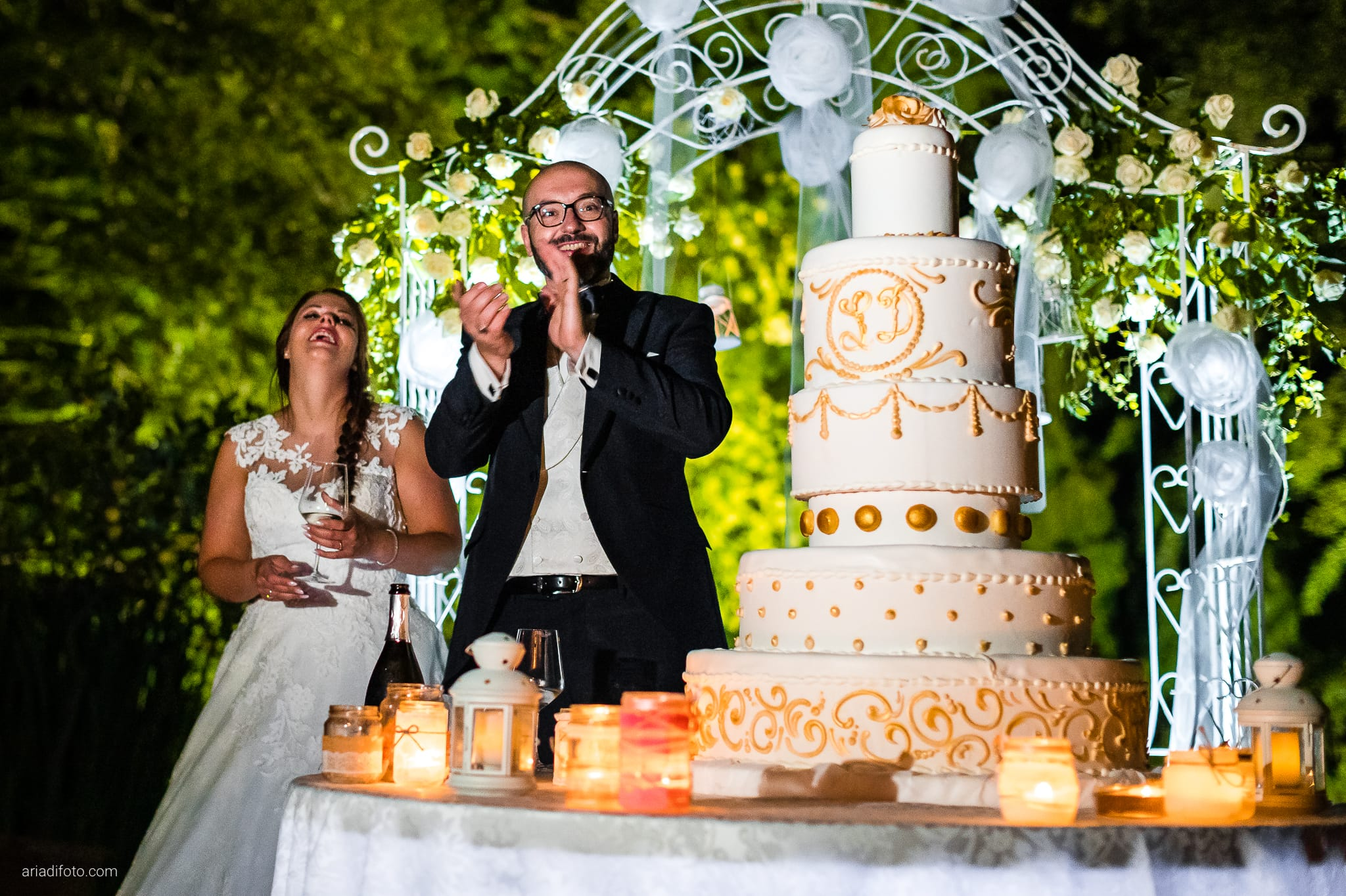 Lavinia Daniele Matrimonio Medea Gorizia Villa Elodia Trivignano Udinese Udine ricevimento taglio della torta